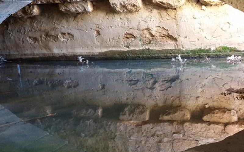 DAMAGE ON ROMAN WATER SPRING