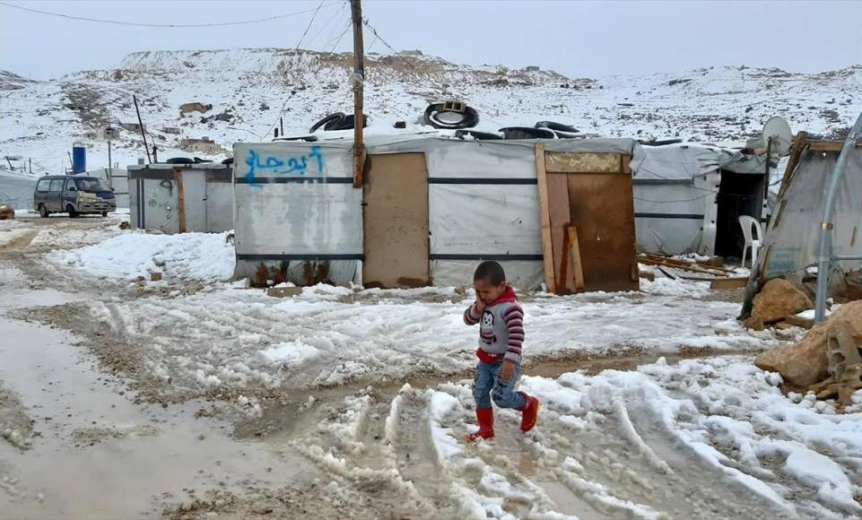 Concerns mount over refugees as 'Norma' brings Lebanon strong winds, snow, rainfall