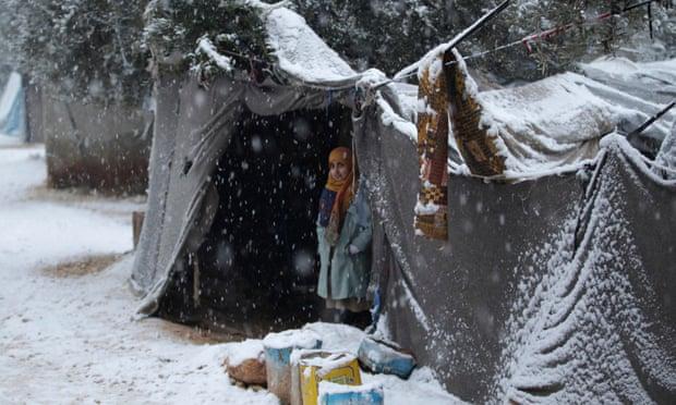 Children and babies die as temperatures plummet in Syria