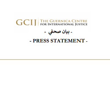 PRESS STATEMENT- THE GUERNICA CENTRE FOR INTERNATIONAL JUSTICE FILES