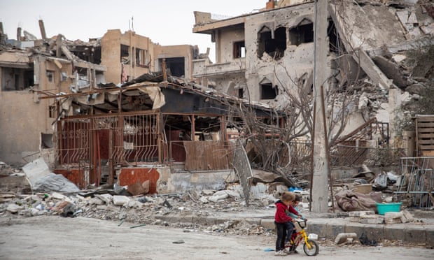 Raqqa is in ruins like a modern Dresden. This is not 'precision bombing'