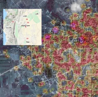 Destroying Ma'arat al Numan and Saraqib Cities and Displacing Their Residents