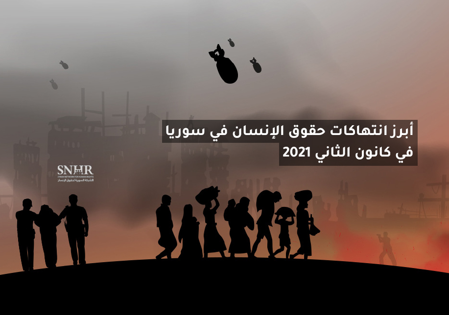The Most Notable Human Rights Violations in Syria in January 2021
