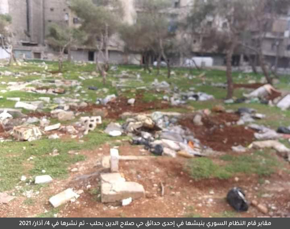 Condemnation of the Syrian Regime's Violation of Cemeteries' Sanctity in Aleppo City