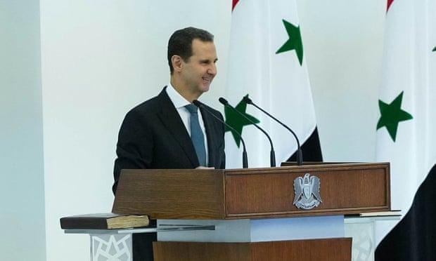 الطاغية الأسد يؤدي اليمين الدستورية لولاية رابعة بنسبة 95٪ من الأصوات
