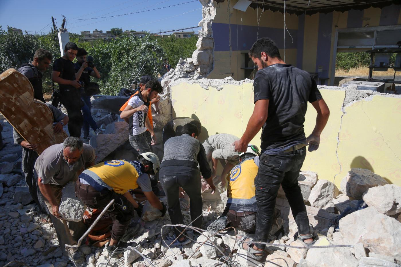 قوات الأسد تقتل تسعة أشخاص في إدلب بينهم ثلاثة أطفال